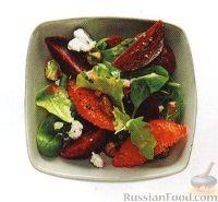 Рецепт Салат из свеклы с апельсином