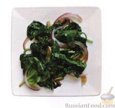 Рецепт Жареный шпинат с луком