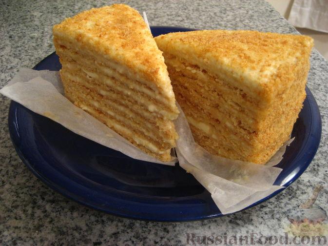 Рецепт Бабушкин медовый торт