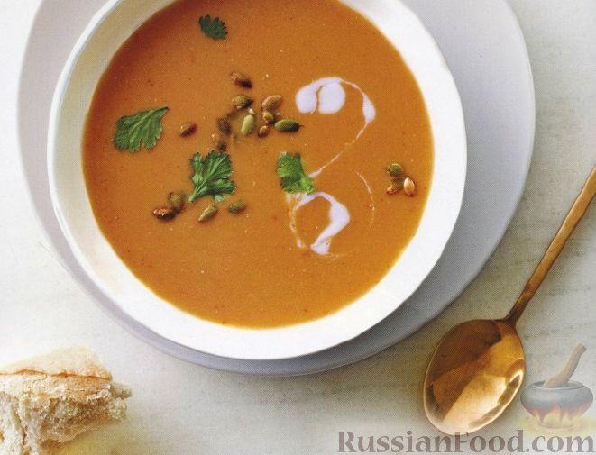 Рецепт Чечевичный суп-пюре с тыквой