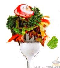 Рецепт Капустный салат с морковью, редисом и перцем