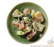 Рецепт Картофельный салат с огурцом и укропом