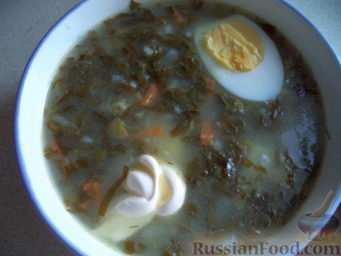 Рецепт Зеленый борщ с рисом