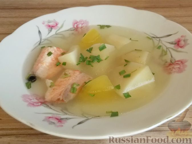 Рецепт Суп из форели с картофелем