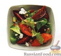 Фото к рецепту: Салат из свеклы с апельсином