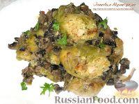 Фото к рецепту: Голубцы с курицей, булгуром и грибами