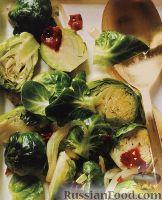 Фото к рецепту: Тушеная брюссельская капуста