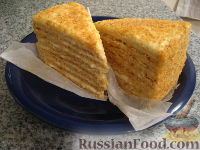 Фото к рецепту: Бабушкин медовый торт