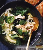 Фото к рецепту: Тайский куриный суп