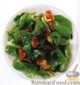 Фото к рецепту: Листья свеклы с жареным беконом