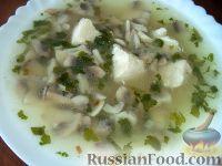 Фото к рецепту: Куриный суп с шампиньонами
