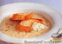 Фото к рецепту: Сырный суп с манкой