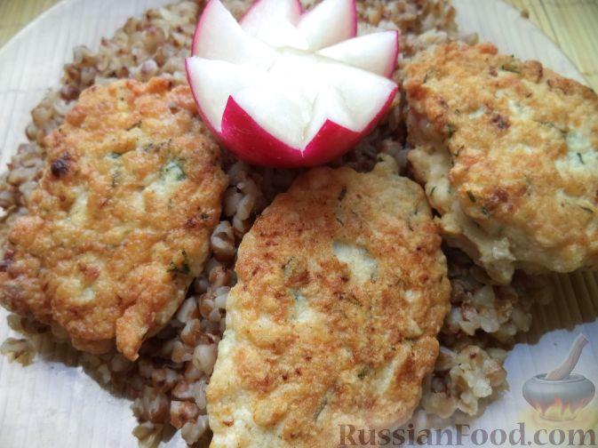 Рецепт Нежные куриные котлетки с укропом