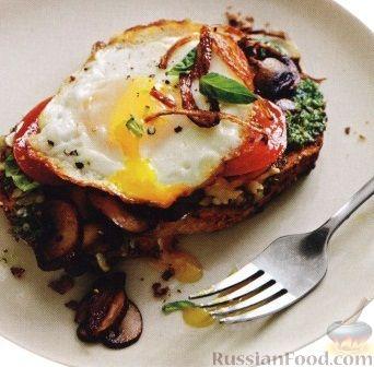 Рецепт Бутерброд горячий с яйцом