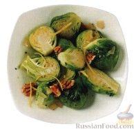 Рецепт Брюссельская капуста с лимонным соусом