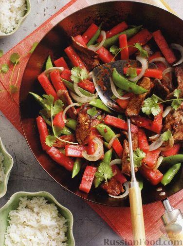 Рецепт Жареное мясо с арбузом