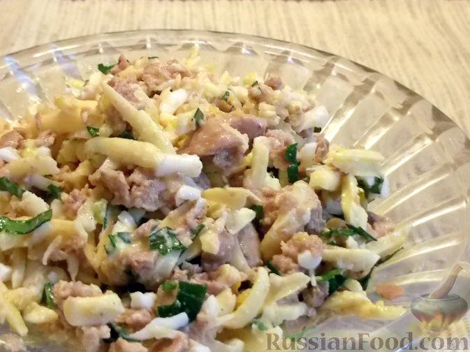 как приготовить салат из печени трески с фото
