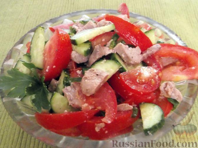 Рецепт Салат из помидоров с тресковой печенью