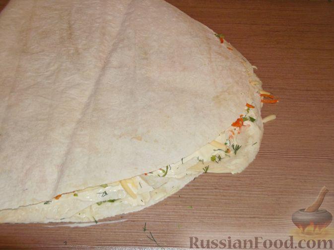 Лаваш с морковью покорейски  пошаговый рецепт с фото на