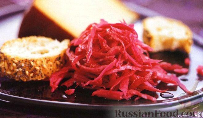 Рецепт Маринованная красная капуста с яблоками и луком