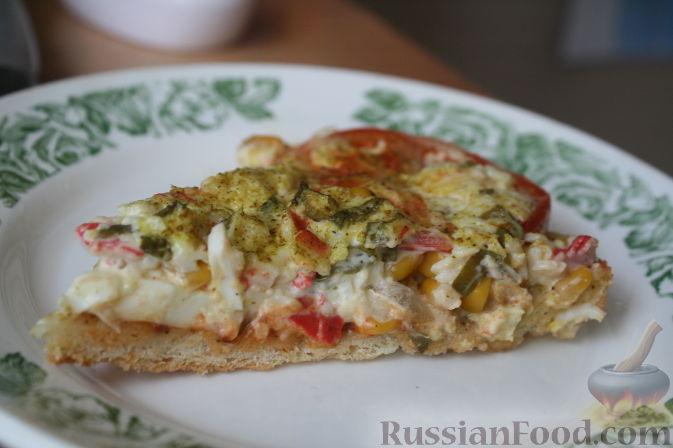 Рецепт Солёно-сладкая пицца с копчёным ароматом