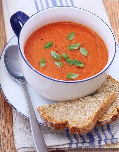 Рецепт Томатный суп-пюре с базиликом