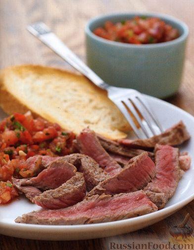 Рецепт Жареные стейки с томатной сальсой