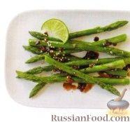Фото к рецепту: Спаржа с кунжутом