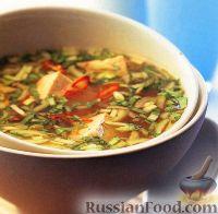Фото к рецепту: Суп с зеленым луком и сыром