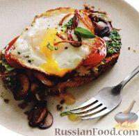 Фото к рецепту: Бутерброд горячий с яйцом