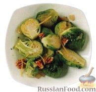 Фото к рецепту: Брюссельская капуста с лимонным соусом