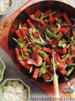 Фото к рецепту: Жареное мясо с арбузом