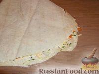 Фото приготовления рецепта: Рулет с корейской морковью - шаг №9