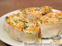 Фото приготовления рецепта: Рулет с корейской морковью - шаг №11