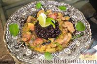 Фото к рецепту: Утиная грудка по-тайски с черным рисом