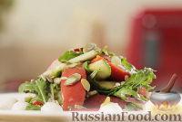 Фото к рецепту: Легкий овощной салат с моцареллой