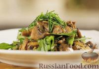 Фото к рецепту: Теплый грибной салат