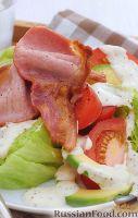 Фото к рецепту: Салат с авокадо и беконом