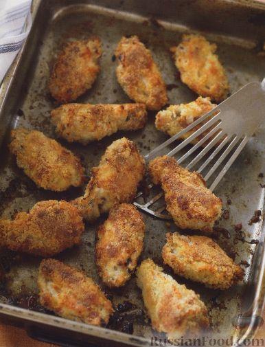 Рецепт Куриные крылышки, жаренные в панировке