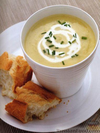 Рецепт Картофельный суп-пюре с луком
