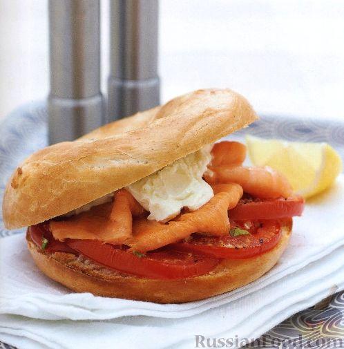Рецепт Горячие бургеры с помидорами и лососем