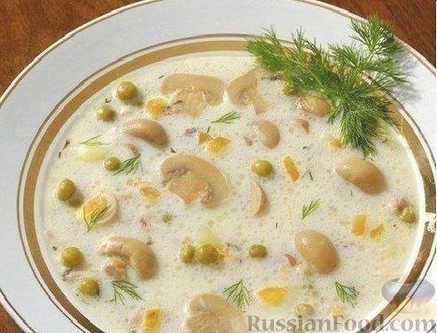 Рецепт Диетический сырный суп с шампиньонами