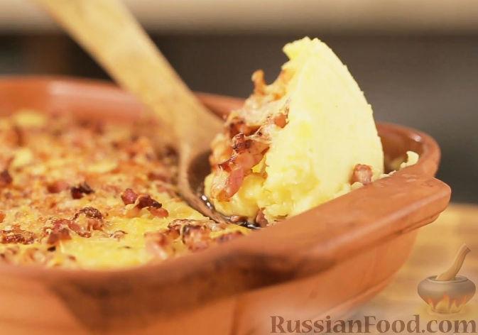 Рецепт Картофельное пюре с беконом и сыром чеддер