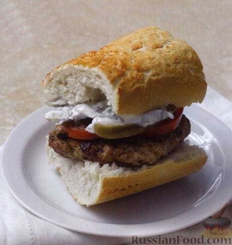 Рецепт Бургеры из багета, со свиными котлетами
