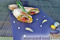 Фото к рецепту: Сэндвич-ролл с индейкой