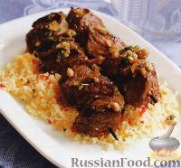 Фото к рецепту: Шашлык из баранины с медовым соусом
