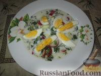 Фото к рецепту: Холодный суп с черемшой