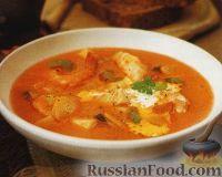 Фото к рецепту: Суп с морепродуктами