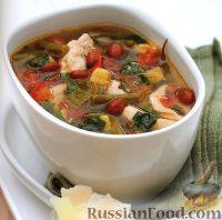 Фото к рецепту: Суп с фасолью и курицей