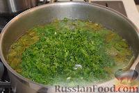 Фото приготовления рецепта: Зеленый борщ - шаг №8